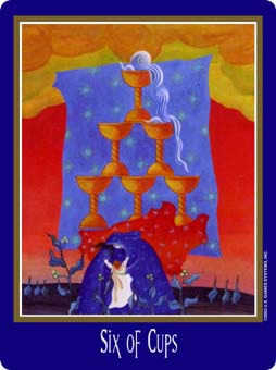 Six of Cups Tarot Card - New Century Tarot Deck