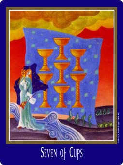 Seven of Bowls Tarot Card - New Century Tarot Deck