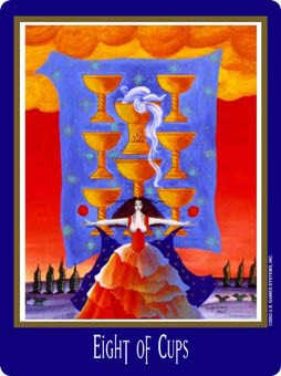 Eight of Water Tarot Card - New Century Tarot Deck