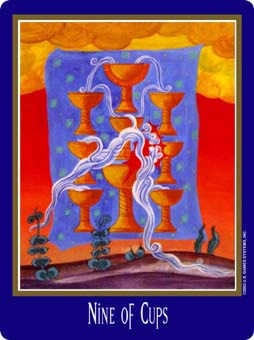 Nine of Cups Tarot Card - New Century Tarot Deck