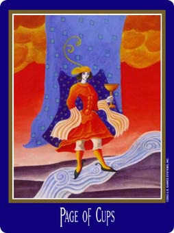 Daughter of Cups Tarot Card - New Century Tarot Deck
