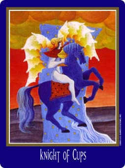 Cavalier of Cups Tarot Card - New Century Tarot Deck
