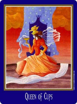 Queen of Bowls Tarot Card - New Century Tarot Deck