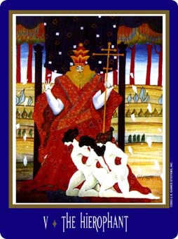 The Pope Tarot Card - New Century Tarot Deck