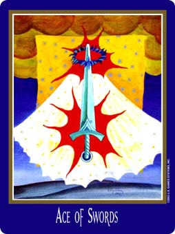 Ace of Wind Tarot Card - New Century Tarot Deck