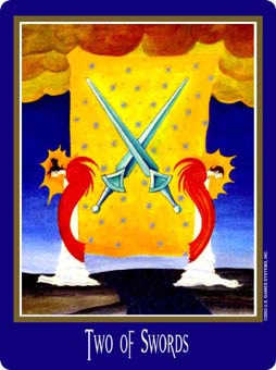 Two of Bats Tarot Card - New Century Tarot Deck