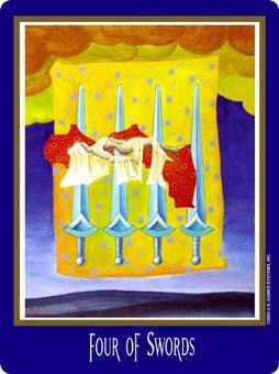 Four of Arrows Tarot Card - New Century Tarot Deck