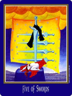 Five of Spades Tarot Card - New Century Tarot Deck