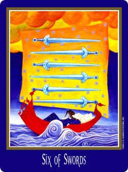 Six of Arrows Tarot Card - New Century Tarot Deck