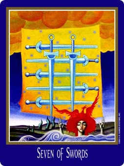Seven of Wind Tarot Card - New Century Tarot Deck