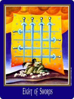 Eight of Arrows Tarot Card - New Century Tarot Deck