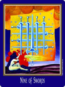 Nine of Arrows Tarot Card - New Century Tarot Deck