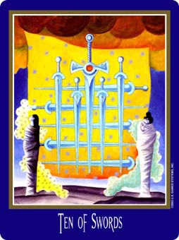 Ten of Arrows Tarot Card - New Century Tarot Deck