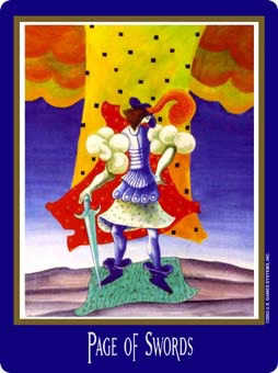 Page of Spades Tarot Card - New Century Tarot Deck