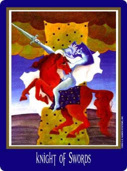 Cavalier of Swords Tarot Card - New Century Tarot Deck