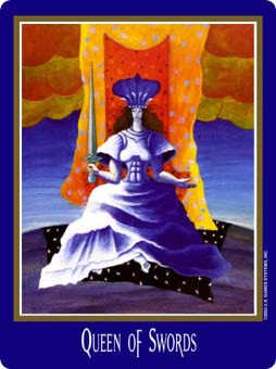 Queen of Spades Tarot Card - New Century Tarot Deck