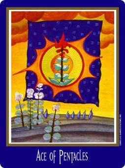 Ace of Pentacles Tarot Card - New Century Tarot Deck