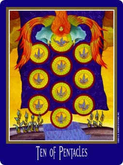 Ten of Stones Tarot Card - New Century Tarot Deck