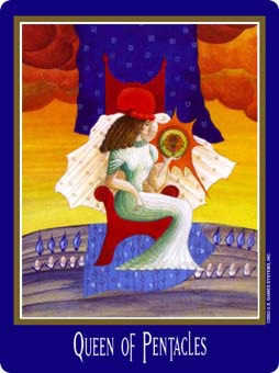 Queen of Coins Tarot Card - New Century Tarot Deck