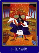 The Magician Tarot card in New Century Tarot deck