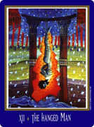 The Hanged Man Tarot card in New Century Tarot deck