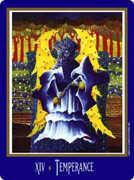 Temperance Tarot card in New Century Tarot deck