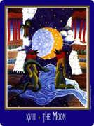 The Moon Tarot card in New Century deck