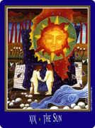 The Sun Tarot card in New Century deck
