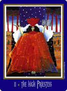 The High Priestess Tarot card in New Century Tarot deck