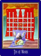 Ten of Wands Tarot card in New Century Tarot deck