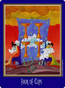 Four of Cups Tarot card in New Century deck