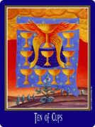 Ten of Cups Tarot card in New Century deck