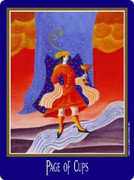 Page of Cups Tarot card in New Century Tarot deck