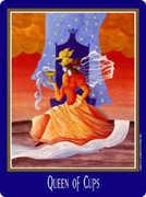 Queen of Cups Tarot card in New Century Tarot deck