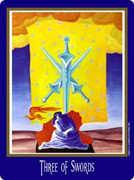 Three of Swords Tarot card in New Century Tarot deck