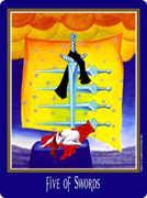 Five of Swords Tarot card in New Century deck