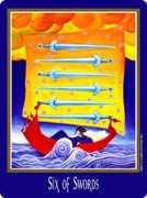 Six of Swords Tarot card in New Century deck