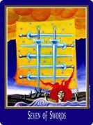 Seven of Swords Tarot card in New Century Tarot deck