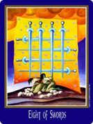 Eight of Swords Tarot card in New Century deck