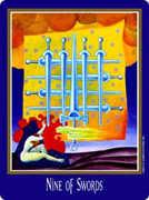 Nine of Swords Tarot card in New Century Tarot deck