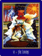 The Lovers Tarot card in New Century deck