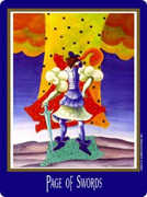 Page of Swords Tarot card in New Century deck
