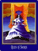 Queen of Swords Tarot card in New Century deck