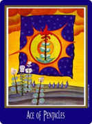 Ace of Coins Tarot card in New Century deck