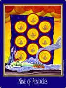 Nine of Coins Tarot card in New Century deck