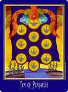 Ten of Coins Tarot card in New Century Tarot deck