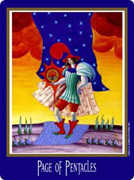 Page of Coins Tarot card in New Century deck