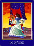 King of Coins Tarot card in New Century Tarot deck