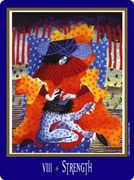 Strength Tarot card in New Century Tarot deck