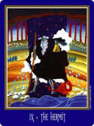 The Hermit Tarot card in New Century deck